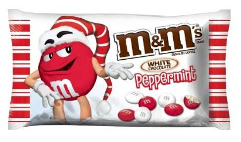 Bag of White Chocolate Peppermint M&M's